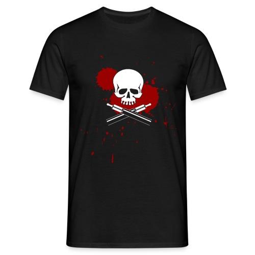vapeskull on black - Männer T-Shirt