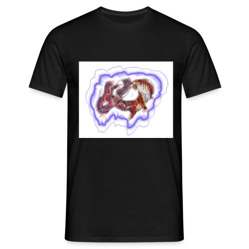drachen gegen tiger - Männer T-Shirt