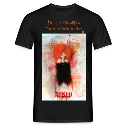 Rajoana orange text - Men's T-Shirt