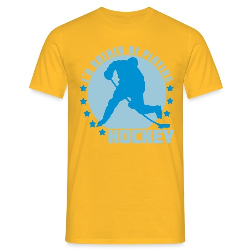 id_rather_be_playing_hock - Men's T-Shirt