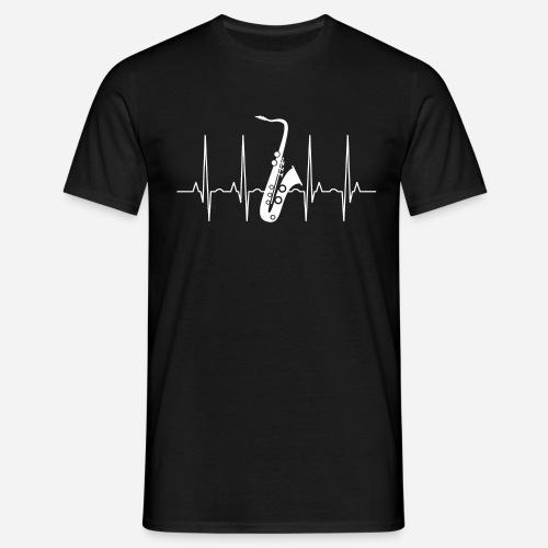 Saxophon Herzschlag - Männer T-Shirt