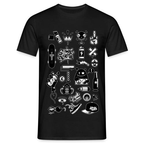 GRAFFITI-ICONS-CONTOUR - T-shirt Homme