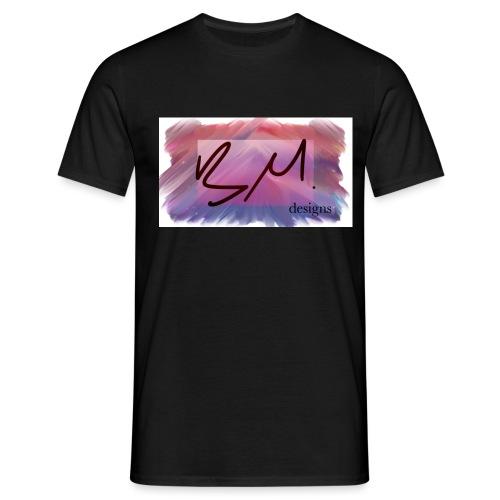 BM designs brushstrokes - Men's T-Shirt