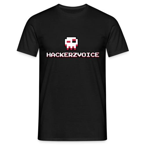 HackerzvoiceLogo 2 by Tixlegeek - Men's T-Shirt