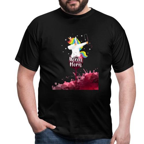 Weinhorn Splash Einhorn Design - Männer T-Shirt