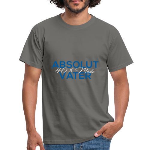 Abolut Vater für Männer 40 % Müde Vatertag - Männer T-Shirt