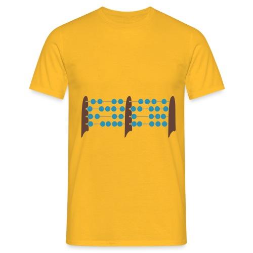 Abakus, doppelt (Doppelprozessor) - Männer T-Shirt