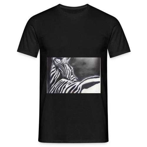 creation zebre fait main - T-shirt Homme
