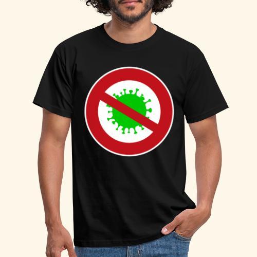 Virusstop gross - Männer T-Shirt