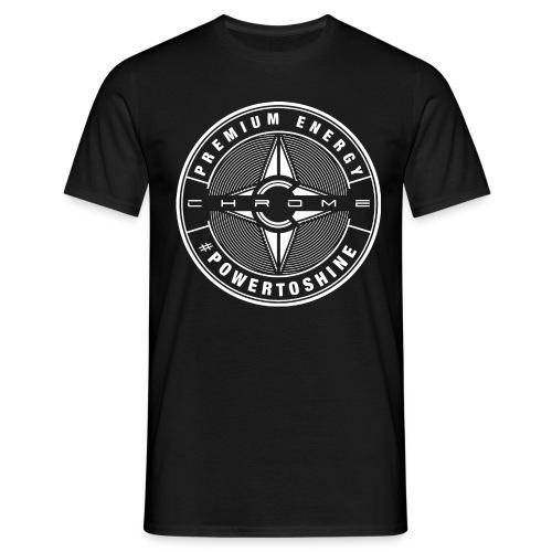 Chrome Logo #powertoshine - Men's T-Shirt