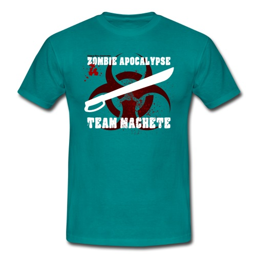 Zombie Apokalypse Team Machete - Männer T-Shirt