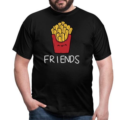 Burger und Pommes Best Friends Partnerlook - Männer T-Shirt