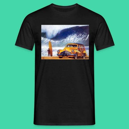 placas decorativas surf praia carro antigo wood - T-shirt Homme