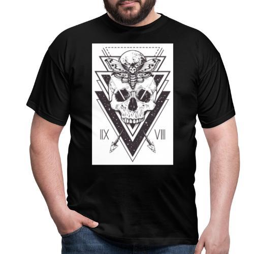 Totenkopf mit Spaceship - Männer T-Shirt