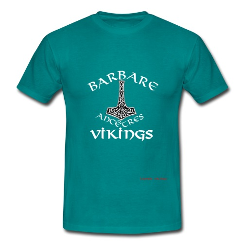 designFinalWHITE-BarAncVi - T-shirt Homme