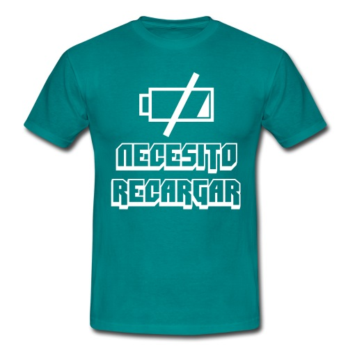 Necesito recargar - Camiseta hombre