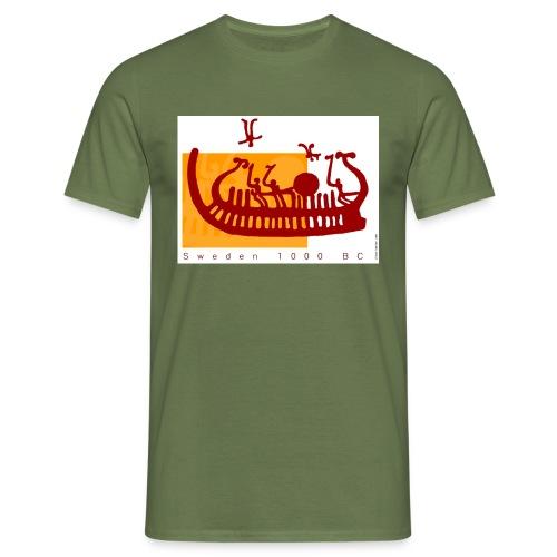 Felsbild Schiff - Männer T-Shirt