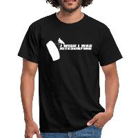 I Wish I Was Kitesurfing - White - Men's T-Shirt - black