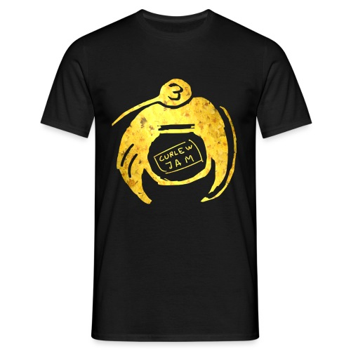 Curlew logga GULD png - T-shirt herr