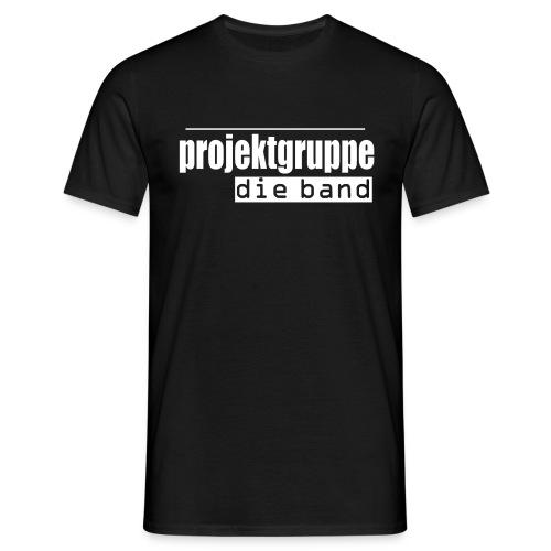 schriftzug weiss - Männer T-Shirt