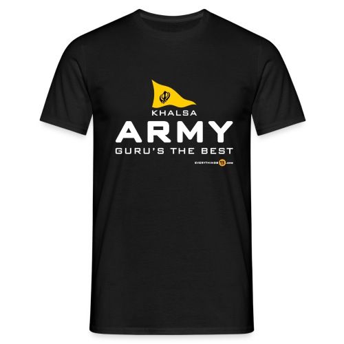 Khalsa ARMY Guru s the BEST white - Men's T-Shirt