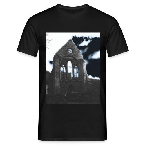 pandy_valle_crucis_abbey_horseshoe_pass_ - Men's T-Shirt