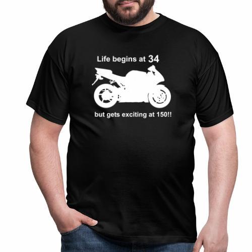 life begins 34 - Men's T-Shirt