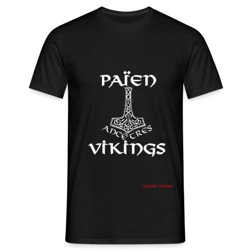 designWHITE Païen Anc Vik - T-shirt Homme