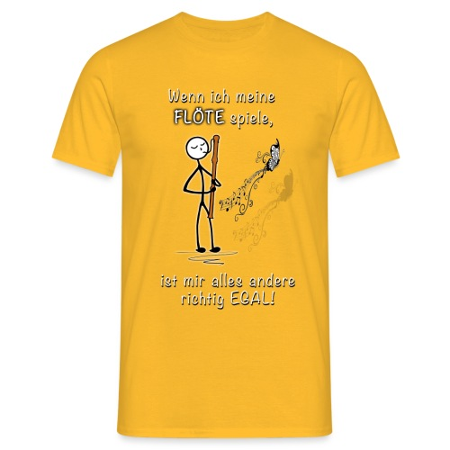 Recorder Love f. dark colours - Men's T-Shirt