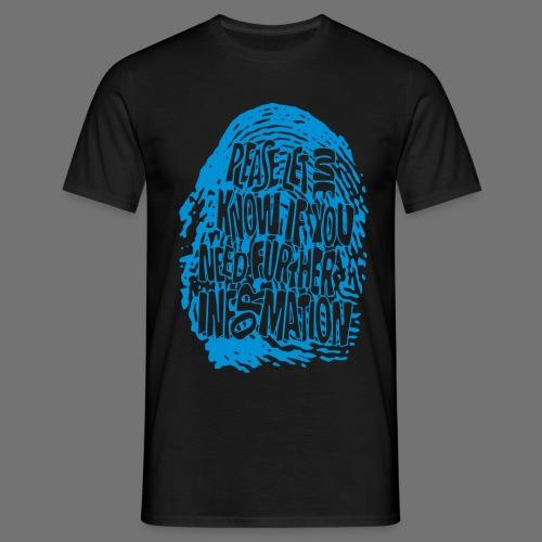 Fingerprint DNA (blue) - Männer T-Shirt