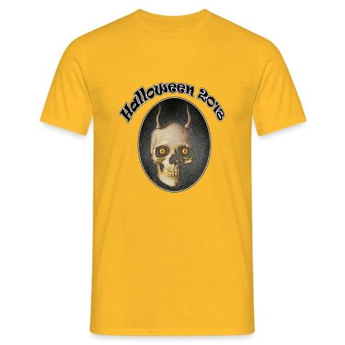 Halloween 2018 Horned Devil Skull - Men's T-Shirt