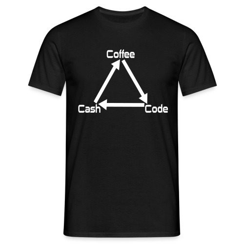 Coffee Code Cash Softwareentwickler Programmierer - Männer T-Shirt