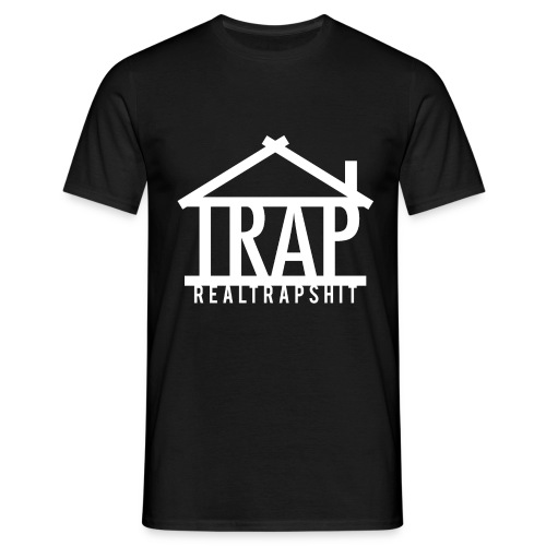 realtrapshit traphouse white png - Men's T-Shirt