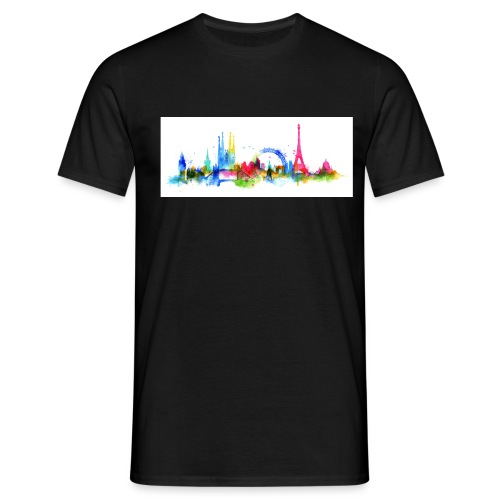 Skyline mixed 7 - Männer T-Shirt