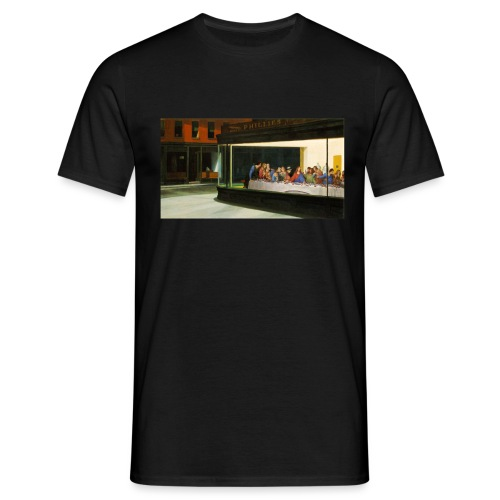 Art Juxtaposition - Nighthawks & The Final Supper - Men's T-Shirt