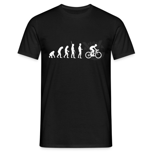 Evolution Radfahren weiss - Männer T-Shirt