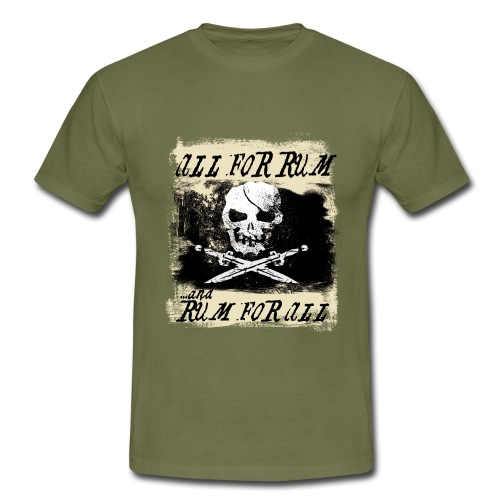 All For Rum and Rum For All - T-shirt herr