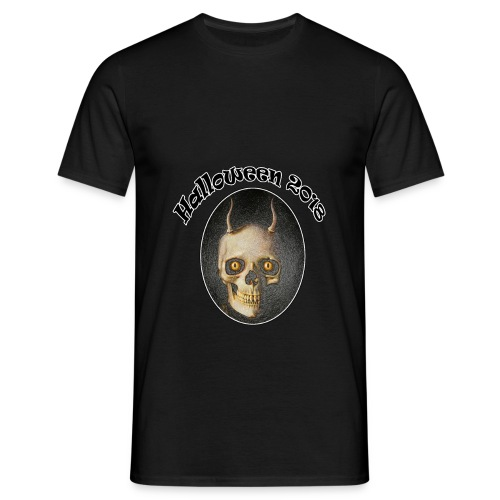 Halloween 2018 Horned Devil Skull - Men's T-Shirt