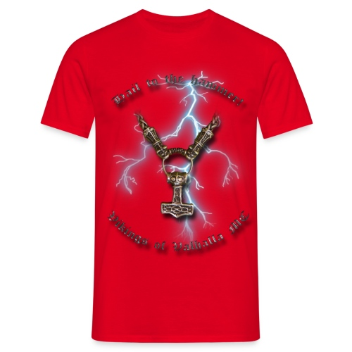 Hail to the hammer png - Herre-T-shirt