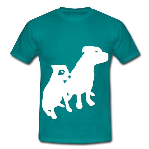 Doggy / zwei brave Hunde zum verschenken - Männer T-Shirt