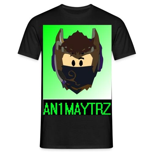 AN1MAYTRZ logo + title - Men's T-Shirt