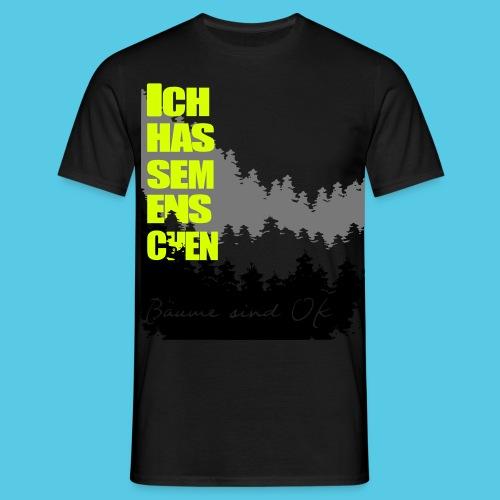 Ich hasse menschen, liebe Bäume - Männer T-Shirt
