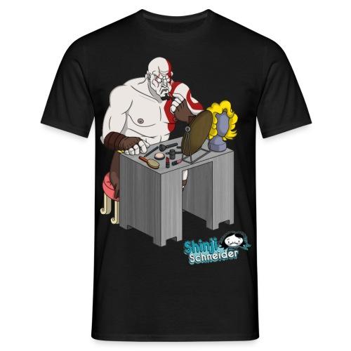 Make Up Kratos - Männer T-Shirt
