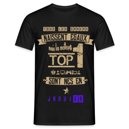 Gameur Top 1 Janvier - T-shirt Homme