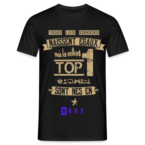 Gameur Top 1 Mars - T-shirt Homme