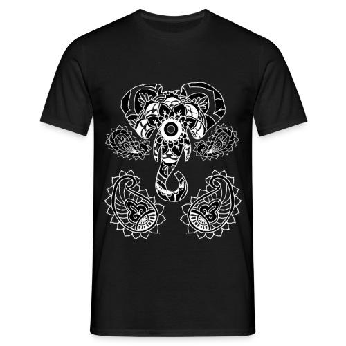 elephant mandala - Men's T-Shirt