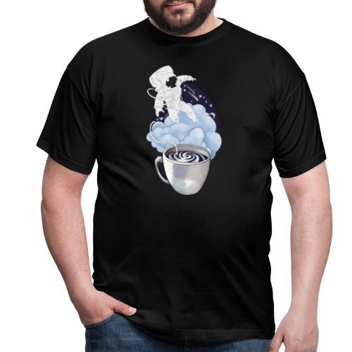Astronaut Kaffee Design - Männer T-Shirt
