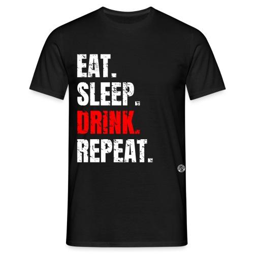 EET SLAAP DRANK HERHALEN Shirt - Drinkende partij T-shirt - Mannen T-shirt