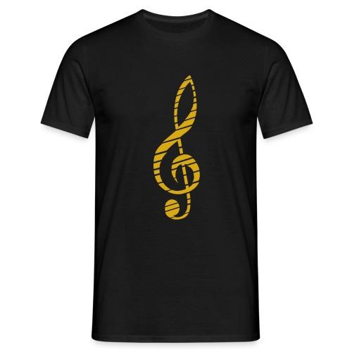 Goldenes Musik Schlüssel Symbol Chopped Up - Men's T-Shirt