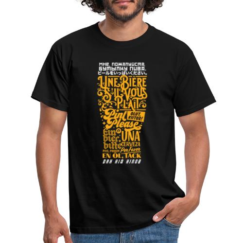 Multilingual Pint - Men's T-Shirt